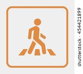crosswalk icon. | Shutterstock .eps vector #454421899