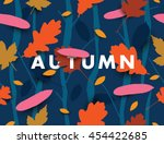 autumn illustration with... | Shutterstock .eps vector #454422685
