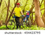 active father and his little... | Shutterstock . vector #454423795