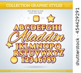 aladdin graphic styles for... | Shutterstock .eps vector #454429291