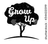 tree grow up motivation poster. ... | Shutterstock .eps vector #454433599
