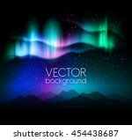 aurora borealis abstract background - vector illustration