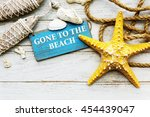 beach coast nature paradise... | Shutterstock . vector #454439047