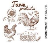 vector illustration of farm...   Shutterstock .eps vector #454439341