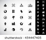 a set of 20 vector abstract... | Shutterstock .eps vector #454447405