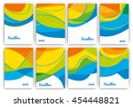 abstract brazil 2016 themed... | Shutterstock .eps vector #454448821