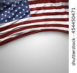 closeup of american flag on... | Shutterstock . vector #454450471