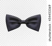 black bow tie illustration on... | Shutterstock .eps vector #454453369