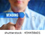 vending title button  vending... | Shutterstock . vector #454458601