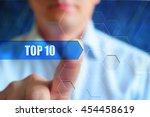 top 10 header  title button ... | Shutterstock . vector #454458619