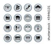 vector media icons   Shutterstock .eps vector #45446131