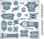 vintage labels set   origami... | Shutterstock .eps vector #454469167