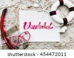 summer travel trip vacation... | Shutterstock . vector #454472011