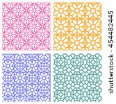 seamless floral pattern in...   Shutterstock .eps vector #454482445