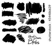 hand drawn design elements  set ... | Shutterstock .eps vector #454486639