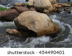 Big Rocks In A Rapid River  Bi...