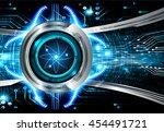 dark blue color light abstract...   Shutterstock .eps vector #454491721