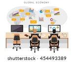 global economy or world economy.... | Shutterstock .eps vector #454493389