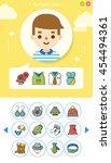 icon set wearing vector | Shutterstock .eps vector #454494361