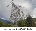 high voltage transmission power ... | Shutterstock . vector #454494604