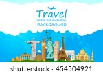 travel and tourism around the... | Shutterstock .eps vector #454504921