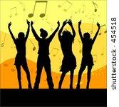 young people dancing   vector... | Shutterstock .eps vector #454518