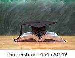 graduation cap with glasses... | Shutterstock . vector #454520149