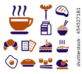 breakfast icon set | Shutterstock .eps vector #454527181
