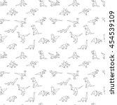 geometric dinosaurs  seamless...   Shutterstock .eps vector #454539109
