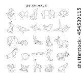 Stock vector geometric animals vector 454539115
