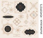 vintage decorations design... | Shutterstock .eps vector #454539271