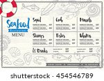 seafood restaurant placemat... | Shutterstock .eps vector #454546789