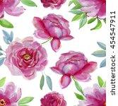 seamless watercolor paintings.... | Shutterstock . vector #454547911