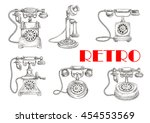 sketch of retro or vintage... | Shutterstock .eps vector #454553569