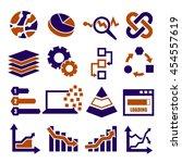 data analysis  information ... | Shutterstock .eps vector #454557619