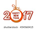 happy new year theme... | Shutterstock . vector #454560415
