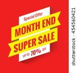 super sale  this weekend... | Shutterstock . vector #454560421