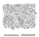 forest leaves pattern  maple ... | Shutterstock .eps vector #454562209