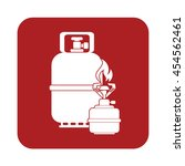 camping stove with gas bottle...   Shutterstock .eps vector #454562461