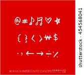 alphabet   number   handwriting ... | Shutterstock .eps vector #454568041