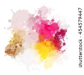 colorful watercolor background. ... | Shutterstock .eps vector #454579447