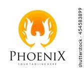 phoenix logo template  fire... | Shutterstock .eps vector #454583899