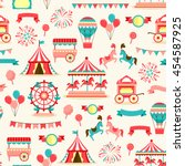 seamless pattern with vintage... | Shutterstock .eps vector #454587925