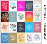 set of calligraphy posters with ...   Shutterstock .eps vector #454589875