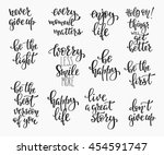 positive quote lettering set.... | Shutterstock .eps vector #454591747