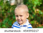 baby boy at the colorful summer ... | Shutterstock . vector #454593217