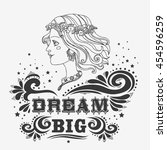 dream big.  motivational and... | Shutterstock . vector #454596259
