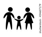 pictogram of family with one... | Shutterstock .eps vector #454607179