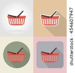 basket of products in... | Shutterstock . vector #454607947