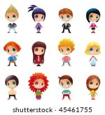 set of funny people. cartoon... | Shutterstock .eps vector #45461755